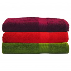 Deals, Discounts & Offers on Home Decor & Festive Needs - Trident 3 Piece Men's Cotton Bath Towel Set