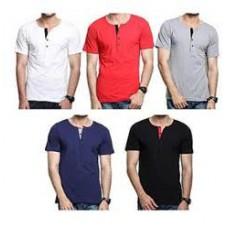 Deals, Discounts & Offers on Men - Rigo Combo Of 5 Plain Men T Shirts @ Rs 999