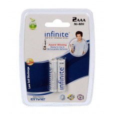 Deals, Discounts & Offers on Electronics - Envie AAA 800 2PL Infinite Rechargeable Batteries