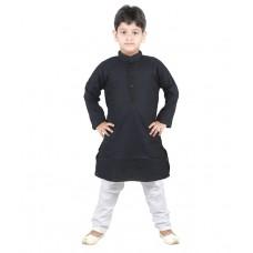 Deals, Discounts & Offers on Kid's Clothing - Jbn Creation Black Kurta Pajama For Boys