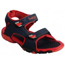 Deals, Discounts & Offers on Foot Wear - GoldStar Navy Blue & Red Men Sandals