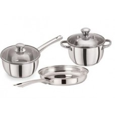 Deals, Discounts & Offers on Home Appliances - Pristine Tri Ply Induction Base Cooking Essential St. Steel Cookware Set