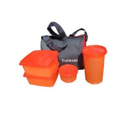 Deals, Discounts & Offers on Home Appliances -  Topware Lunch Box With 4 Pcs With Insulated Bag @ Rs.409