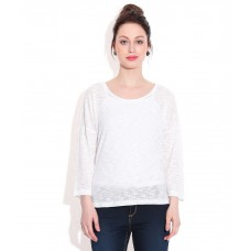 Deals, Discounts & Offers on Women Clothing - Elle White Cotton Tops