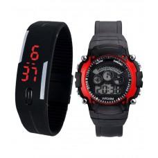 Deals, Discounts & Offers on Men - Lecozt Black Digital Watches