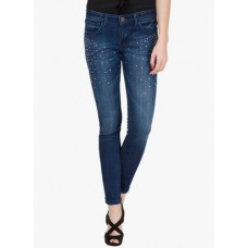Deals, Discounts & Offers on Women Clothing - Tokyo Talkies Blue Mid Rise Slim Jeans
