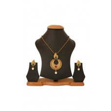 Deals, Discounts & Offers on Women - Touchstone Antique Gold Plated Moon Style Traditional Pendant Set