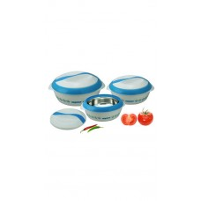 Deals, Discounts & Offers on Home & Kitchen - Nayasa Blue And White Polypropelene Casseroles