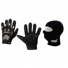 Deals, Discounts & Offers on Car & Bike Accessories - Knighthood Bike Riding Gloves Black and Face Mask Black,
