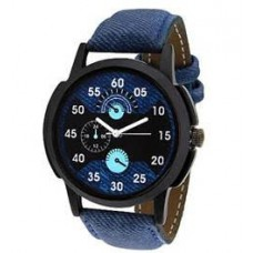 Deals, Discounts & Offers on Men -  Flat 75% OFF  navy Blue Denim Analog Men Watch @249-