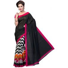 Deals, Discounts & Offers on Women Clothing - Ishin Printed Bhagalpuri Art Silk Sari