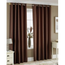 Deals, Discounts & Offers on Home Decor & Festive Needs - Homefab India'S Set Of 2 Royal Silky Coffee Door Curtains