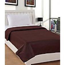 Deals, Discounts & Offers on Home Decor & Festive Needs - Trendz Brown Polyester AC Fleece Blanket