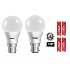 Deals, Discounts & Offers on Home Decor & Festive Needs - Eveready 9W (pack of 2) -6500K 100LUMENS/W Cool Day Light LED Bulb