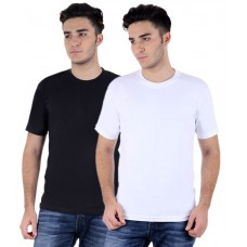 Deals, Discounts & Offers on Men Clothing - TrendBae Combo of 2 Cotton T-shirts for Men