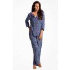 "Deals, Discounts & Offers on Women Clothing - Prettysecrets Cobalt Paisley ""Snuggle Up"" Top & Pj Set"