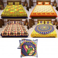 Deals, Discounts & Offers on Home Decor & Festive Needs - Flat 60% off on Cotton Rajasthani Bedsheets