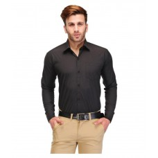 Deals, Discounts & Offers on Men Clothing - Unique For Men Black Formal Slim Fit Shirt