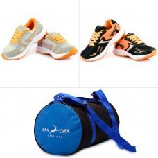 Deals, Discounts & Offers on Accessories - Provogue Men's Mesh Sport Shoes & Bag Combo
