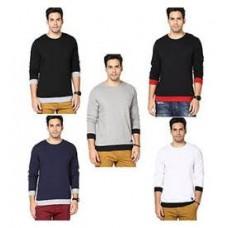 Deals, Discounts & Offers on Men Clothing - Rigo Combo Of 5 Cotton Men T Shirts @ Rs 1299- Flat 63% Off