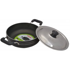 Deals, Discounts & Offers on Home & Kitchen - Tosaa Non-Stick Kadhai with Lid
