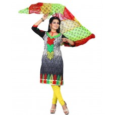 Deals, Discounts & Offers on Women Clothing - Cenizas embroidered Semi Stich Salwar Suit Duptta