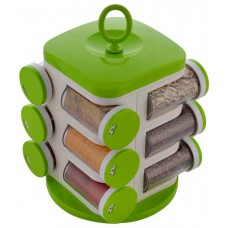 Deals, Discounts & Offers on Home Appliances - Floraware Green Plastic 12 Container with Spice Rack