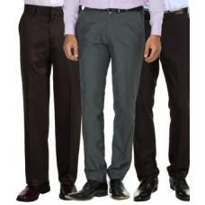 Deals, Discounts & Offers on Men Clothing - Merakapda Pack Of 3 Formal Trouser