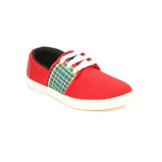 Deals, Discounts & Offers on Foot Wear - red canvas sneakers