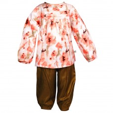 Deals, Discounts & Offers on Kid's Clothing - ShopperTree Orange with khaki Printed Twin Set