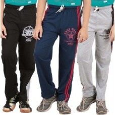 Deals, Discounts & Offers on Kid's Clothing - meril Self Design Boy's Black, Grey, Dark Blue Track Pants