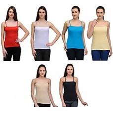 Deals, Discounts & Offers on Women Clothing - Oleva Combo Of 6 Plain Women Spaghetti