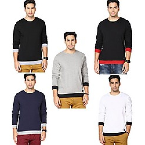 Men Clothing - Rigo Combo Of 5 Cotton Men T Shirts Deals, Offers ...