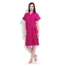 Deals, Discounts & Offers on Women - Sand Dune Pink Cotton Ladies Bathrobe
