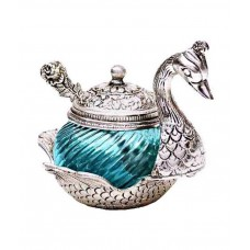Deals, Discounts & Offers on Home & Kitchen - Sajawat Bazaar Turquoise Aluminium Elegant Duck Bowl With Spoon