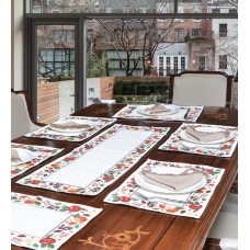 Deals, Discounts & Offers on Home Appliances - Avira Home Celebration Cotton And Polyester Table Mat