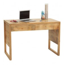 Deals, Discounts & Offers on Furniture - Barcelona Solid Wood Study Table in Natural Finish by TheArmchair