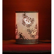 Deals, Discounts & Offers on Home Appliances - Height of Designs Pink & White Iron Butterfly Night Light