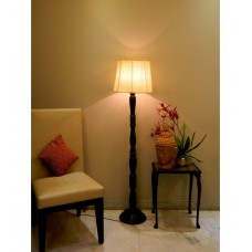 Deals, Discounts & Offers on Home Appliances - Lamp Post Beige Brown Poly Cotton Floor Lamp