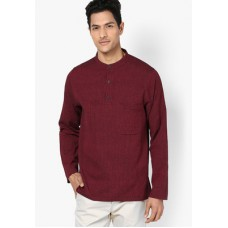Deals, Discounts & Offers on Men Clothing - DESIGN HOUSE SOLID MAROON KURTA