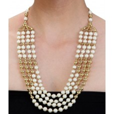 Deals, Discounts & Offers on Earings and Necklace - Shilpi Handicrafts Four Row Designer Pearl Necklace