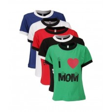 Deals, Discounts & Offers on Kid's Clothing - Goodway Mom & Dad Themed Pack of 5 Smart T-Shirts For Boys