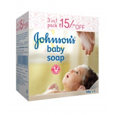 Deals, Discounts & Offers on Baby Care - Johnson's Baby Soap 100 g 3's pack