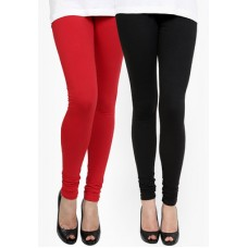 Deals, Discounts & Offers on Women - PANNKH BLACK\/RED SOLID LEGGING