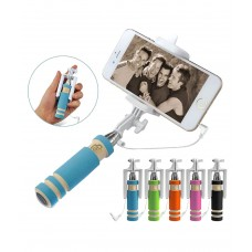 Deals, Discounts & Offers on Mobiles - Zephy White Selfie Stick With Aux Cable