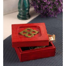 Deals, Discounts & Offers on Accessories - Furnicheer Red Mango Wood 5.5 x 5.5 x 2.5 Inch Jewellry Box