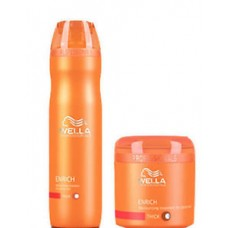 Deals, Discounts & Offers on Health & Personal Care - Combo Wella Professional Enrich Moisturizing Treatment Shampoo & Mask