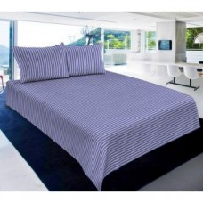 Deals, Discounts & Offers on Furniture - Carah Exclusive Striped Double Bedsheet