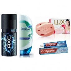 Deals, Discounts & Offers on Personal Care Appliances - Best Combo AXE Deodorant + Head Shoulder Hair Conditioner + Lu x Soap + Colgate Toothpaste