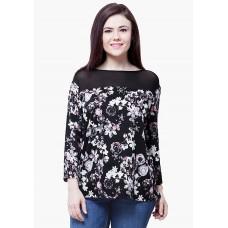 Deals, Discounts & Offers on Women Clothing - CURVE HAUTE MESH TOP